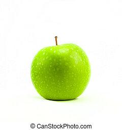 Fresh green apple isolated on white background