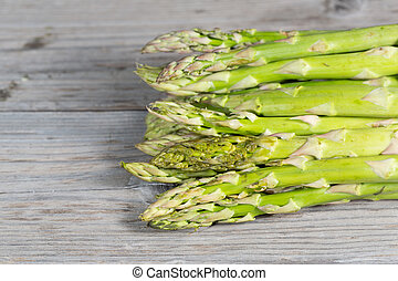 Fresh green asparagus - Bunch of fresh green asparagus on a...