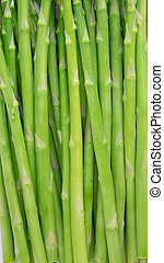 Fresh green asparagus isolated on white, With clipping path.