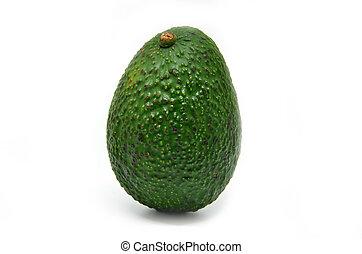 Fresh green Avocado on a white background