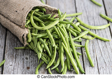 Portion of fresh Green Beans