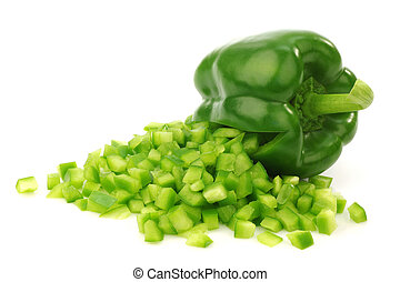 fresh green bell pepper (capsicum) - fresh green bell pepper...
