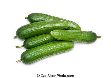 cucumber - fresh green cucumber over a white background