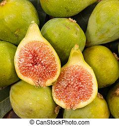 fresh green fig