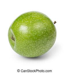 fresh green granny smith apple, isolated
