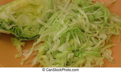 Fresh green iceberg lettuce