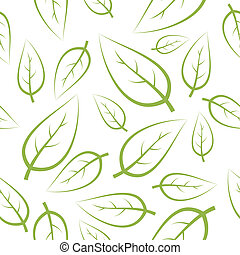 Fresh green leafs texture - seamless pattern
