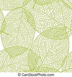 Fresh green leaves background seamless pattern