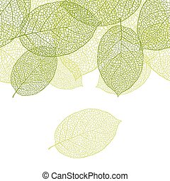 Fresh green leaves background seamless pattern