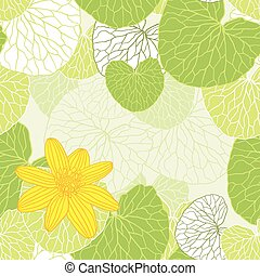 Fresh green leaves background - vector illustration