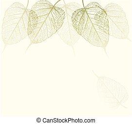 Fresh green leaves background. Vector