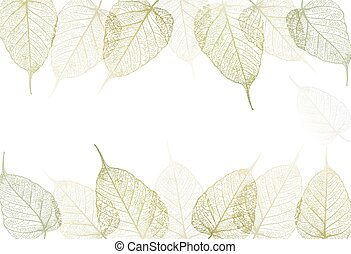 Fresh green leaves background. Vector
