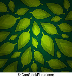 fresh green leaves design
