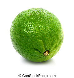 Fresh green lime fruit isolated healthy food