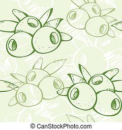 Fresh green olive pattern