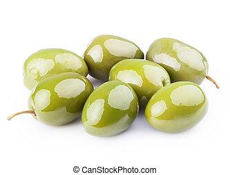 Fresh green olives