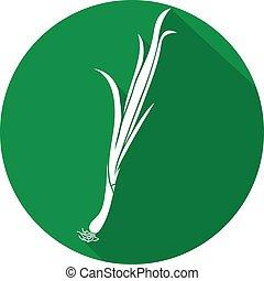 fresh green onion flat icon