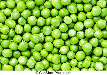 fresh green pea close up