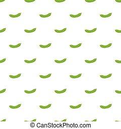 Fresh green peas pattern, cartoon style