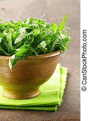 fresh green salad arugula