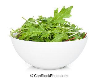 Fresh green salad in a bowl