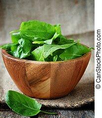 fresh green sorrel