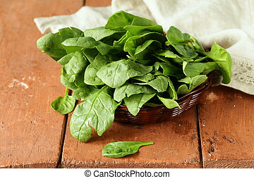 fresh green spinach organic healthy