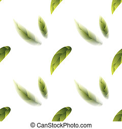Fresh Green Tea Leaves Seamless Pattern