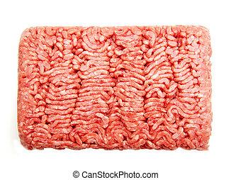ground beef - Fresh ground beef on a white background...