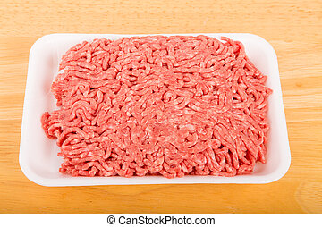 Fresh Ground Beef on Tray
