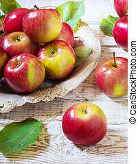 Fresh harvest of apples.Nature fruit concept.