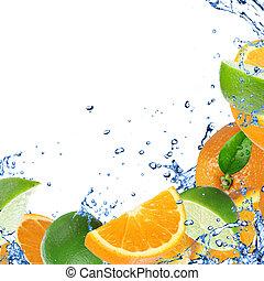 Fresh healthy fruit background