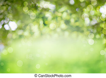 Fresh healthy green bio background with abstract blurred...