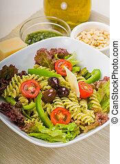 italian fusilli pasta salad - fresh healthy homemade italian...
