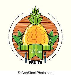 fresh healthy pineapple fruit