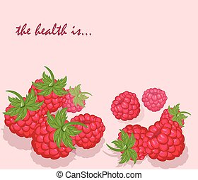 Fresh Healthy Red Raspberry background