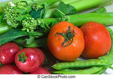 Fresh, healthy vegetables.