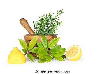 Fresh Herbs and Lemon