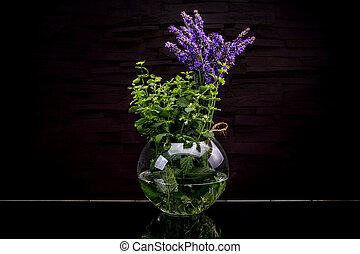 Fresh herbs from garden