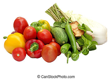 fresh home grown vegetables on table in garden