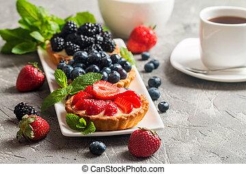 Fresh homemade berrie tarts