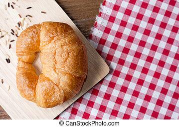 Fresh homemade croissants
