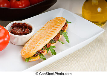 panini sandwich - fresh homemade panini sandwich ,typical...