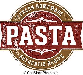 Fresh Homemade Pasta - Fresh pasta stamp design for Italian...