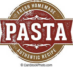 Fresh Homemade Pasta - Fresh pasta stamp design for Italian...