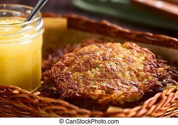 Fresh Homemade Potato Fritters or Pancakes - Fresh homemade ...