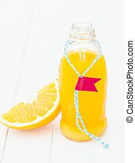 Fresh homemade tropical orange juice