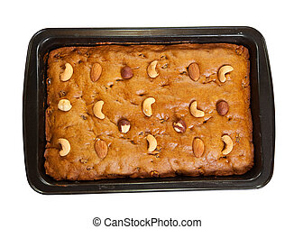 fresh honey cake with nuts