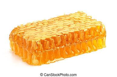 Fresh honey in the comb. - Fresh honey in the comb close-up ...