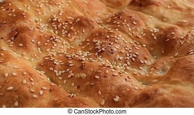 fresh honey with pita bread